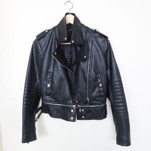 ZARA Faux lethear jacket